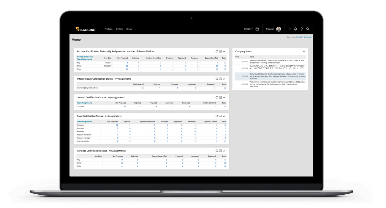 BlackLine Balance Sheet Integrity Solution