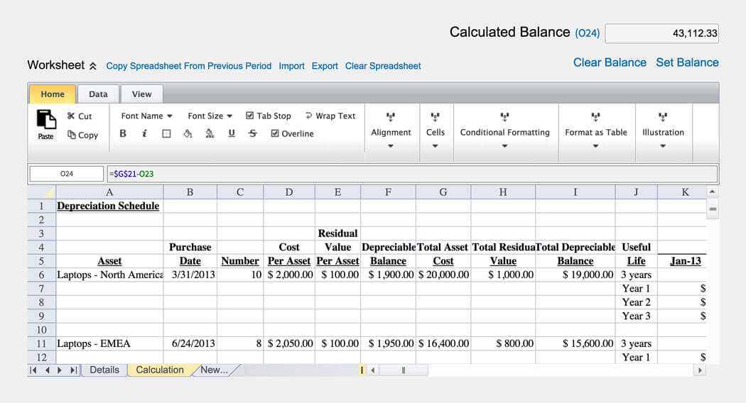Account Reconciliation Software – Bank Account Reconciliation Template